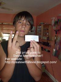 Blog candy winner Stevie