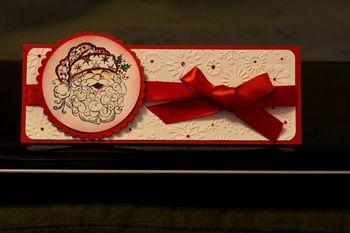Long santa card
